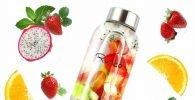 Botellas de agua de cristal Ryaco, botella agua cristal deporte
