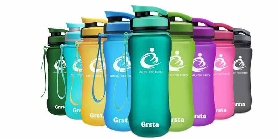 Botellas de agua de plástico de tritan