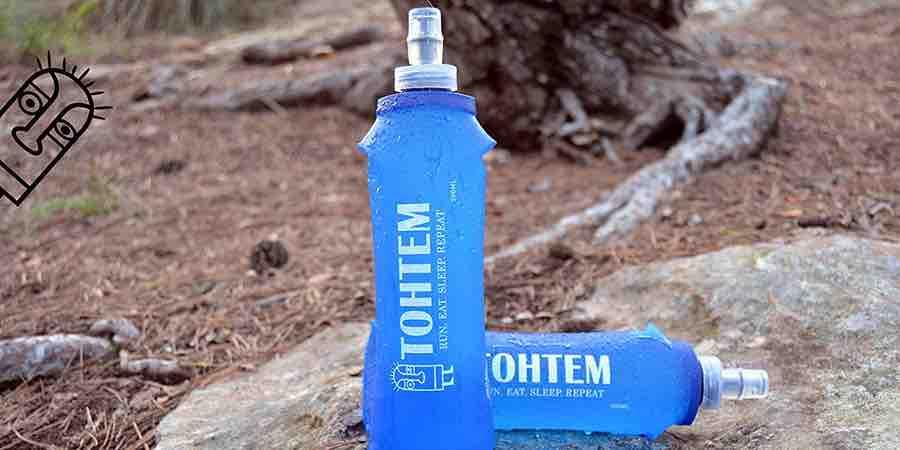 Botella de agua para correr, botellas de agua para corredores, agua running, cinturon de hidratcion dectahlon
