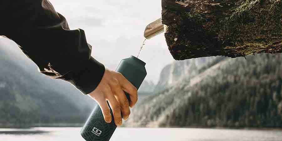 Botellas de agua de acero inoxidable monbento