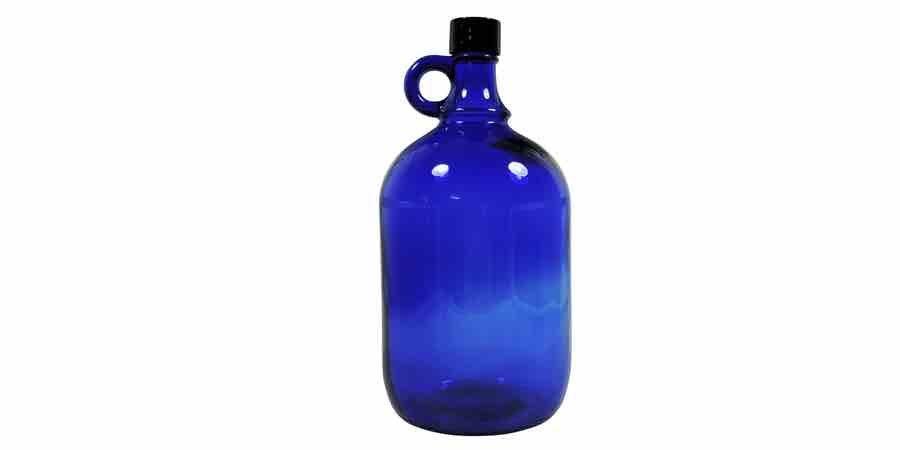 Comprar botellas de cristal azules en Amazon