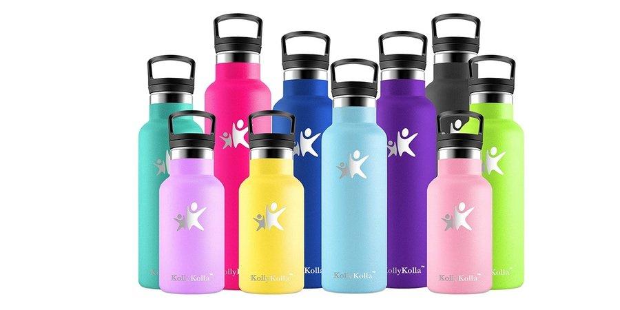 Comprar botella de agua reutilizable KollyKolla en Amazon